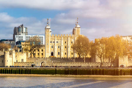 Tower of London located on the north bank of the River Thames in central London, UK Stock fotó