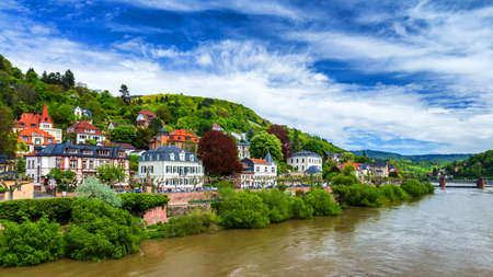 View of beautiful medieval town Heidelberg, Germany Stock fotó