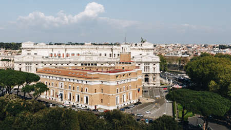 Corte Suprema di Cassazione in Rome, Italy. View from Castel Sant'Angelo.