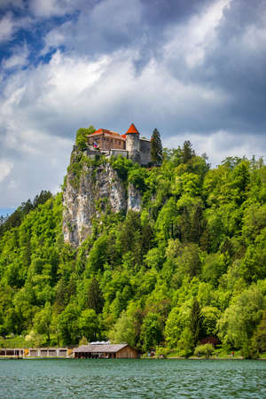 Bled Castle with Lake Bled, Slovenia. 스톡 콘텐츠 - 145657183