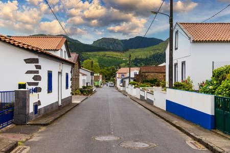 Traditional houses, Sete Cidades, Sao Miguel Island, Azores. Beautiful view of Sete Cidades village in Sao Miguel Island, Azores, Portugal.