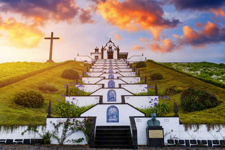 Vila Franca do Campo, Portugal, Ermida de Nossa Senhora da Paz. Our Lady of Peace Chapel in Sao Miguel island, Azores. Our Lady of Peace Chapel, Sao Miguel island, Azores, Portugal.