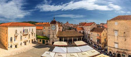 Old town of Trogir in Dalmatia, Croatia. Trogir old town. Near Split in Croatia. The picturesque and historical city of Trogir in Balkan, Dalmatia, Croatia.