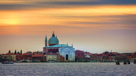 Chiesa del Santissimo Redentore (Church of the Most Holy Redeemer) - Il Redentore Church at sunset, Venice, Italy.
