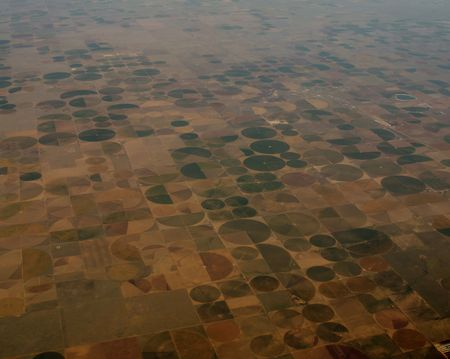 invading: This is fascinating. These crop circles go for thousands of miles across the United States. This is proof that the Aliens are invading our country :)