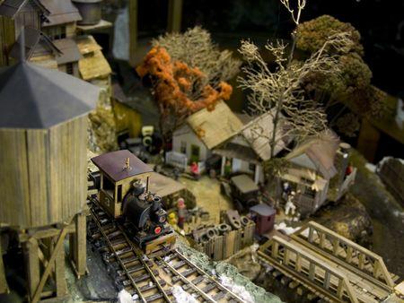 miniature railroad town photo