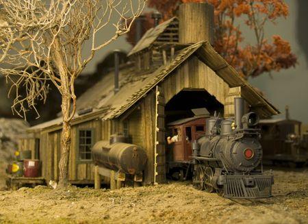 miniature railroad  photo