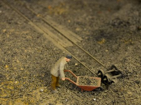 miniature railway track   photo