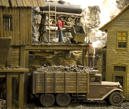 dearly: My Dad built this RR Board by board. The buildings rock trees etc. Fine Detail. He was one of the best. I miss him dearly. You would be hard pressed to find any better model rail road photos on the internet including the high dollar sites. Stock Photo