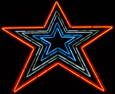 neon sign: This is one big neon star!