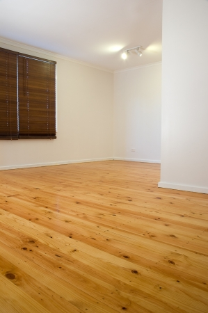 vago: Vacant house with wooden floorboards Editorial