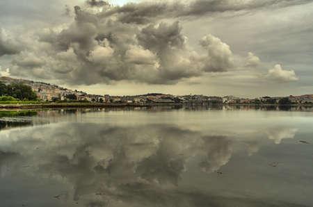 estuary: clouds over the estuary