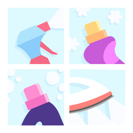 Laundry Illustrations Set