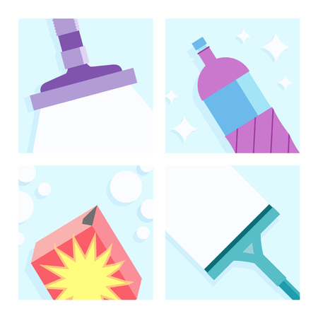 Cleaning Illustrations Set Ilustrace