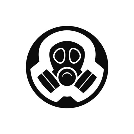 Gas mask rounded icon
