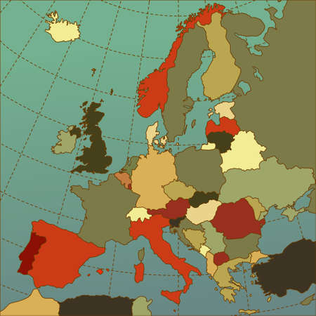 netherlands map: Colorful europe map