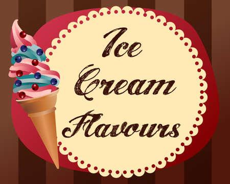 fondo retro con colores del helado