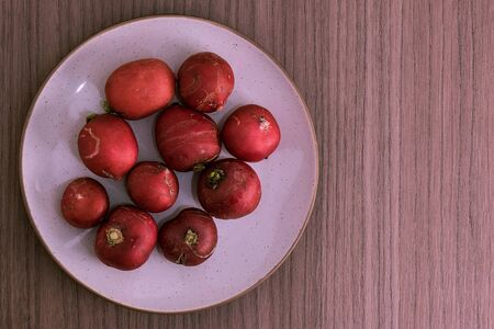 radishes: Some radishes into a round dish network