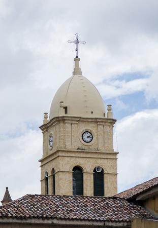 plundering: Belfry of Calera Church in Cundinamarca Colombia Stockfoto