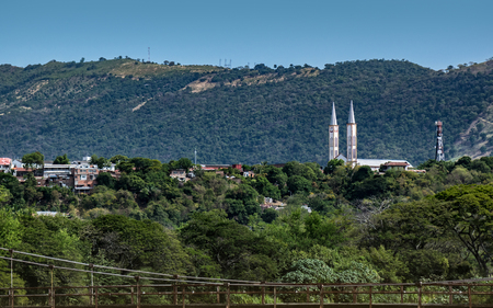 Distant view of the church from the outskirts of Tocaima, Cundinamarca.