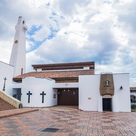 Central church of the town of Guatavita, Cundinamarca Colombia
