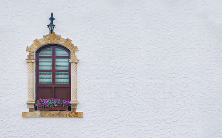 Typical window of Spanish colonial architecture