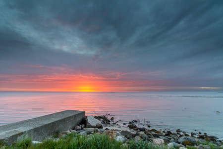 Sunrise over Kattegat, Denmark 版權商用圖片
