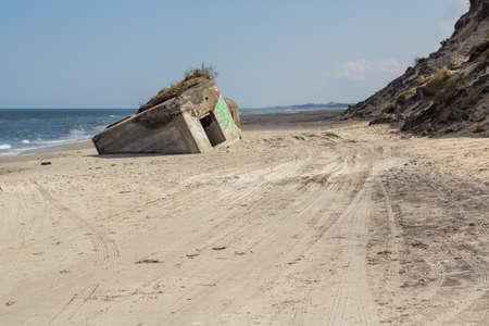 German World War II bunker, Skiveren beach, Denmark