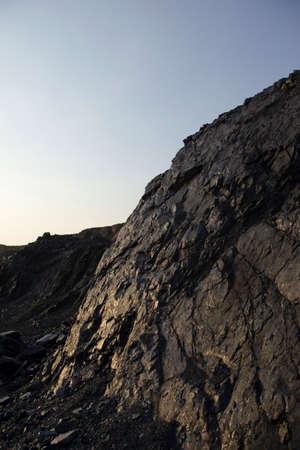 mongolia: Opencast coal mine in Mongolia