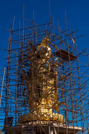 La construcción del Buda Foto de archivo - 35108878