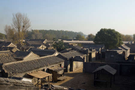 watts: Traditional village in northern China Stock Photo
