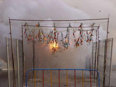banger: firework display Stock Photo