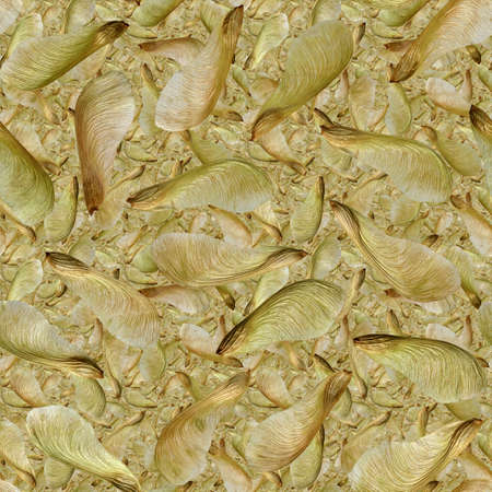 silver maple: Tileable seamless wallpaper pattern of 10 layers of silver maple seeds.  May be tiled both horizonally and vertically. Stock Photo