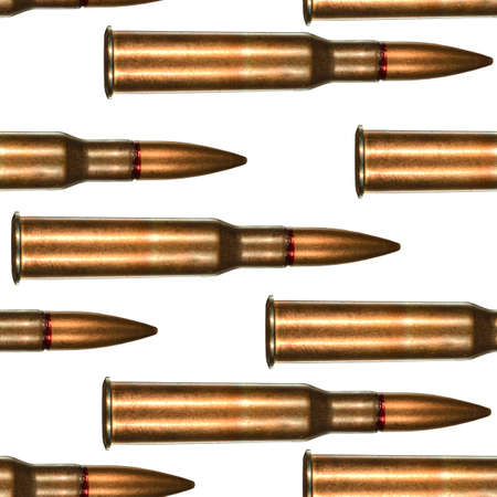 full metal jacket: 7.62x54r rifle cartridge for Russian made Mosin Nagant rifle arranged in seamless tileable pattern.  This was ammunition used extensively by the red army and their snipers during world war two the Great Patriotic War.