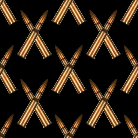 7.62x54r rifle cartridge for Russian made Mosin Nagant rifle arranged in seamless tileable pattern.  This was ammunition used extensively by the red army and their snipers during world war two the Great Patriotic War.