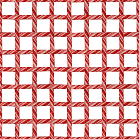 Repeating tileable pattern of candy canes suitable for wallpaper, background, wrapping paper, etc.