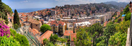 Sanremo (San Remo) Italy a Panoramic View of the Historic Old Town