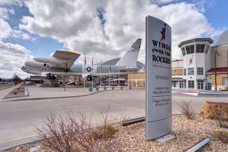 denver history museum: Denver, Colorado - 03082016 - B-52 Bomber outside Wings Over the Rockies Air and Space Museum in Denver, Colorado.