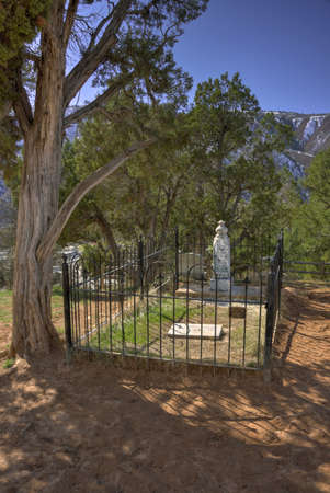 john henry: Glenwood Springs, Colorado - 03102016 - Doc Hollidays Monument in the Glenwood Cemetery in Glenwood, Colorado. Editorial