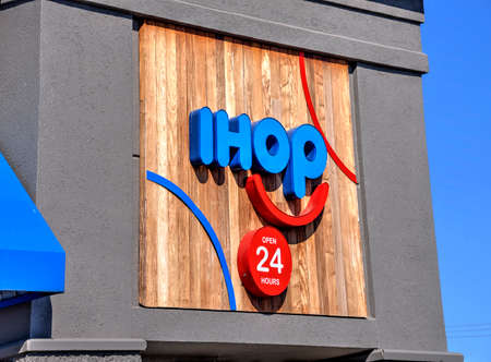 Springfield, Missouri - March 22, 2019: International House of Pancakes (IHOP) is an American multinational pancake house restaurant chain that specializes in breakfast foods.  IHOP has over 1600 locations around the world. Editorial.
