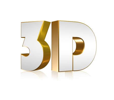 3D word Standard-Bild