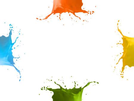 4 colors splash Standard-Bild