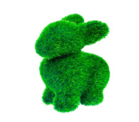 Green grass rabbit