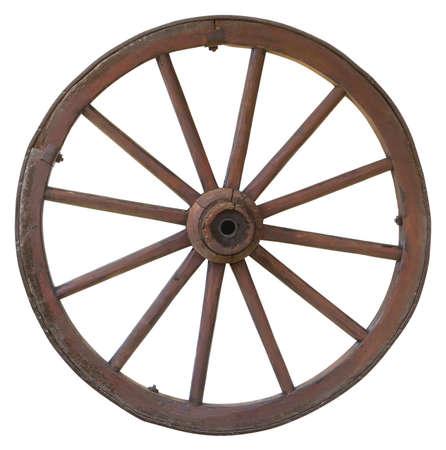 Vintage carriage wheel