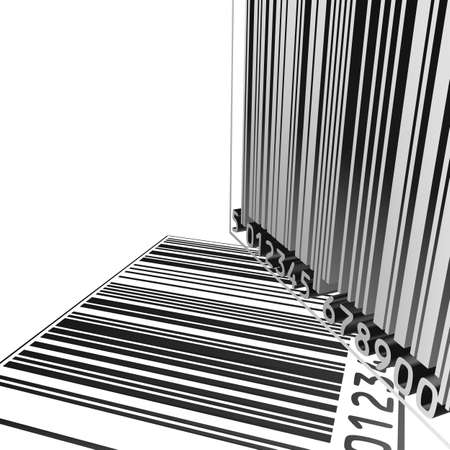 isolated 3D barcode backgound on a white background