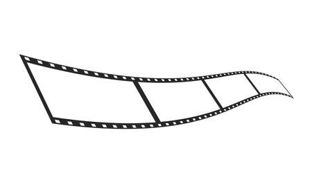 isolate film strip template on a white background