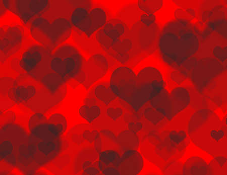 beautiful concept red boheh background with a lot of hearts
