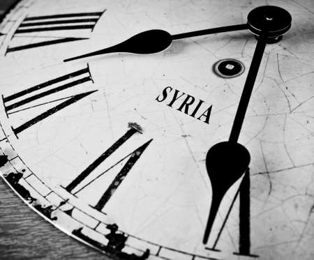 syrian war: Syrian time concept black and white