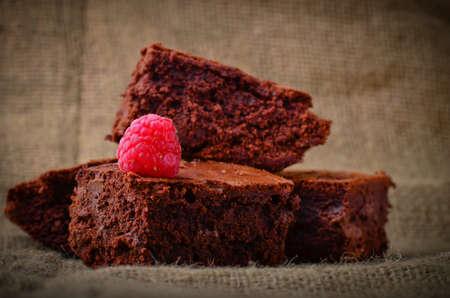 Home made chocolate brownies Stock Photo