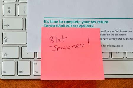 Self assesement tax return reminder